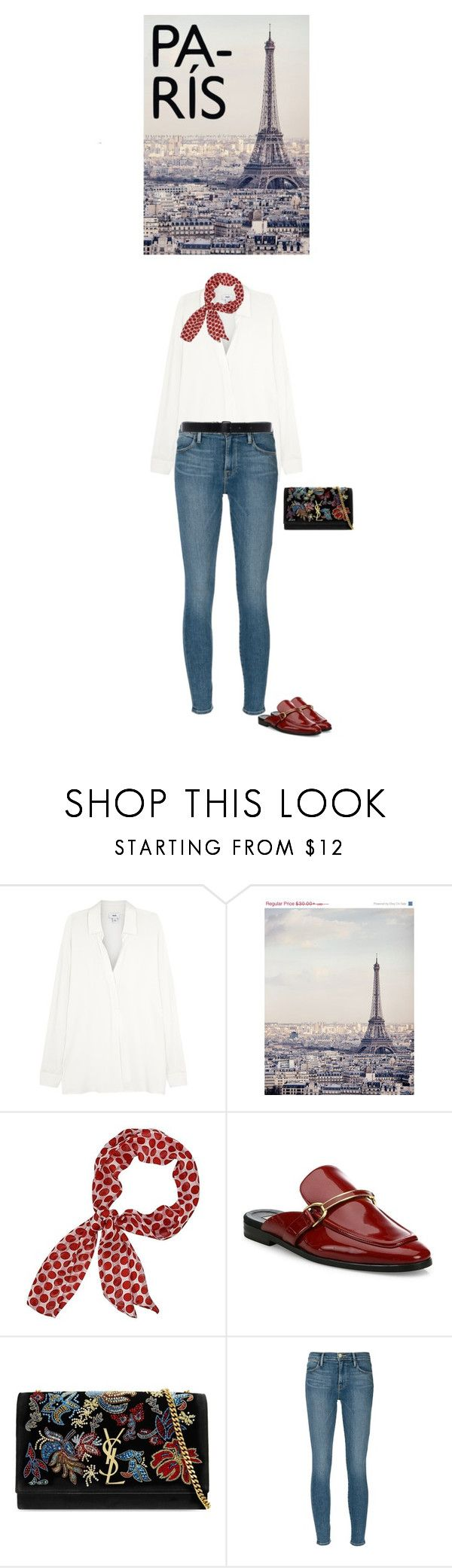 """""""Paris chic"""" by blueeyed-dreamer ❤ liked on Polyvore featuring Vince, WALL, STELLA McCARTNEY, Yves Saint Laurent, Frame Denim and Ann Demeulemeester"""