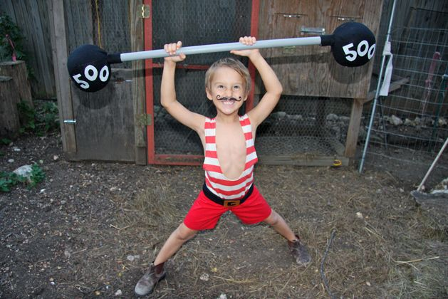 MAKE | How-To: Vintage Strongman Kid's Costume