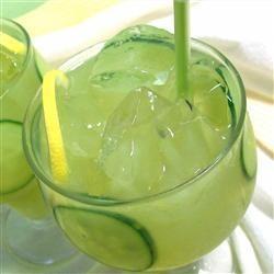 Limonade fraîche au concombre