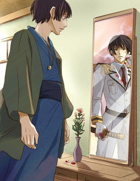 Hetalia - Japan. The relationship between Japan and his dark side really fascinates me for some reason....