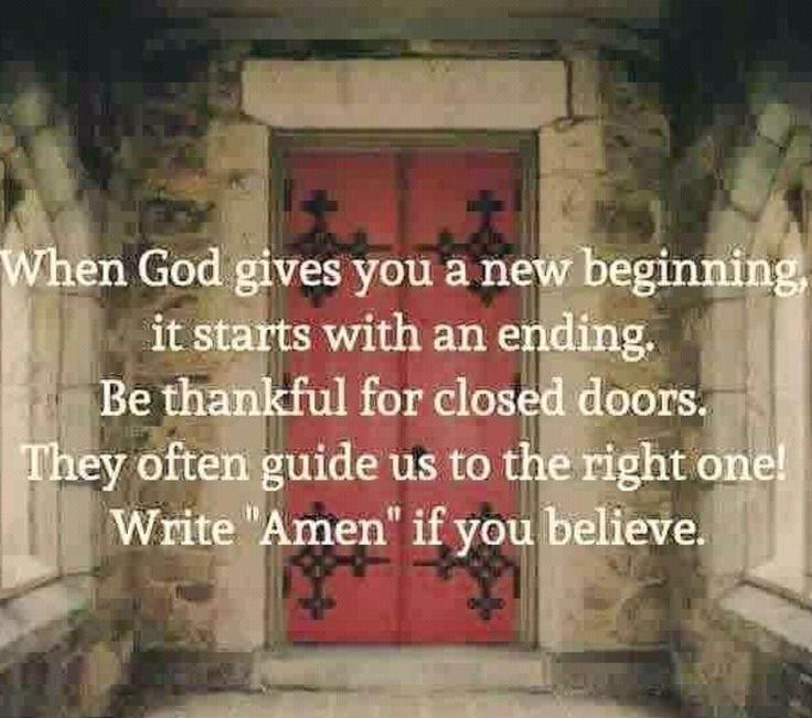 """Когда Господь даёт нам шанс начать заново - необходимо покончить с прошлым. Благодарите Господа за неудачи и """"закрытые двери"""", ибо только так мы можем постигнуть истинный путь и начать заново... все что не делается, делается к лучшему! #fvpsu"""