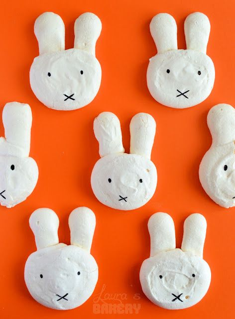 Bunny Meringue Cookies - So adorable. How cute would these be if you made them for Easter