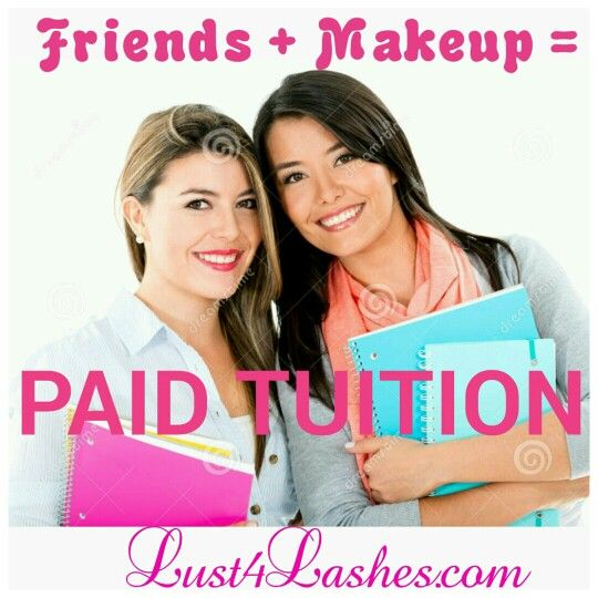 College and University gals! Be sure to have the best looks and pay for those books with an opportunity to make you that extra cash! Learn how simple it is at www.lust4lashes.com or email tico4sho@gmail.com for more details!