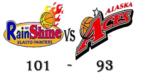Rain or Shine win against Alaska Aces in Game 37 Result of PBA Philippine Cup Elimination Round