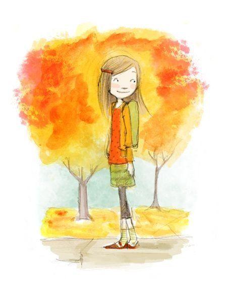 Цитаты и картинки про осень | Иллюстратор, Причудливое ...