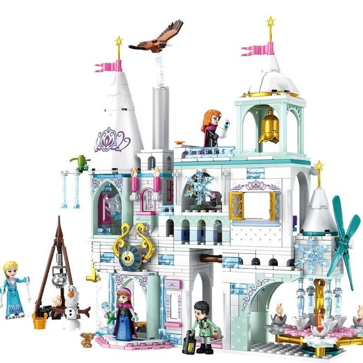 2020 New Disneyingly Princess Castle Elsa Ice Castle