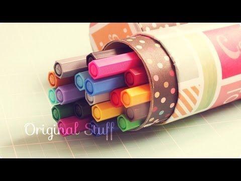 Lapicera // Estuche [Reciclaje] - Original Stuff - YouTube
