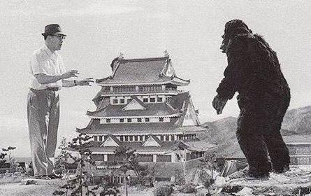 On the set of KING KONG VS GODZILLA