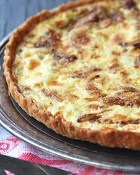 Bacon and Carmelized onion tart.