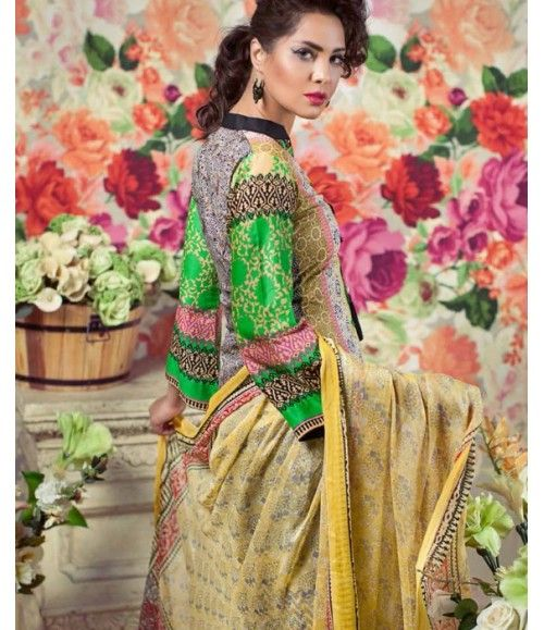 Feminine Embroidered Lawn Collection 2016 FEM_05B