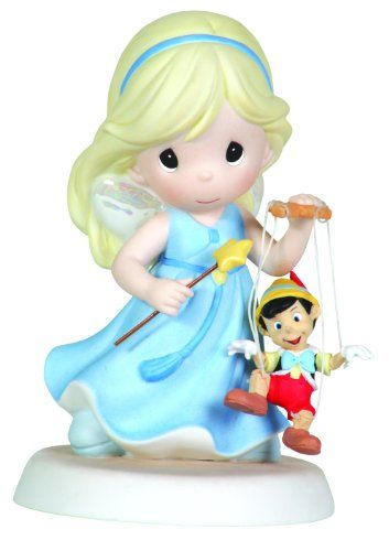 Precious Moments Disney Girl Fairy With Pinocchio Figurine - http://www.preciousmomentsfigurines.org/disney/precious-moments-disney-girl-fairy-with-pinocchio-figurine-2/