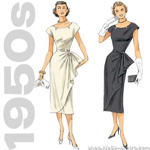 1950s Repro Vintage Sewing Pattern: Belted Dress. Butterick 5880 – WeSewRetro