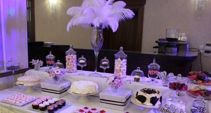 9. Mad Men's Wedding,Sweet table / Wesele w stylu Mad Men,Słodki stół,Anioły Przyjęć