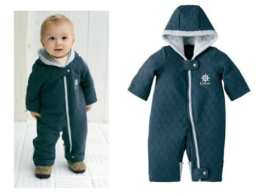 Baby Boy Toddler Quilted Snowsuit Winter Suit Jacket Warm
