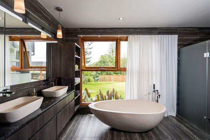 Ultra Modern Bathroom Vanity In Polytec Doors In Char Oak Ravine Polytec Ravine Embossed