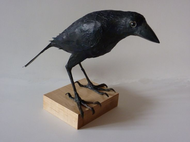 """Cedric the Crow"" - by Phil Lockwood. Paper Mache"