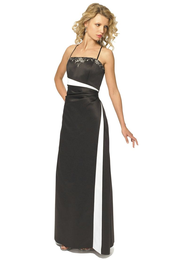 Black dress bridesmaid - Perky Spaghetti Long Black Bridesmaid Dresses Fashjourney Com