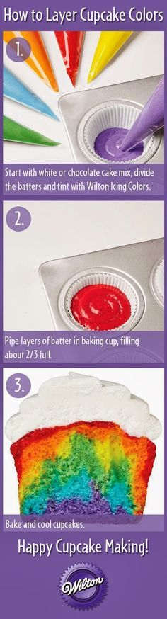 The Busy Bee: DIY Rainbow Cakes - fun for teaching the colors in the rainbow - ROY G. BIV