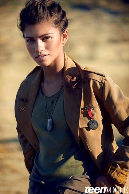 Zendaya by Boo George for Teen Vogue's February 2015 cover
