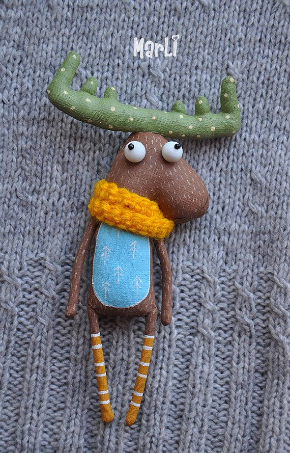 loving moose by MarLitoys on Etsy
