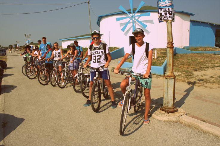 Obóz IGRZYSKA ŻYCIA! Wycieczka rowerowa #obóz #wakacje #Grecja #plaża #rower