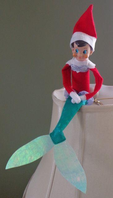 Mermaid elf on a shelf