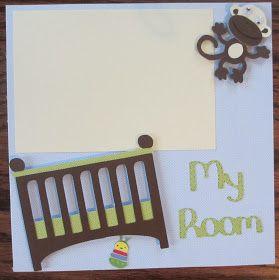 Baby room scrapbook page  Ashley's Adventures: Baby Boy Scrapbook Gifts