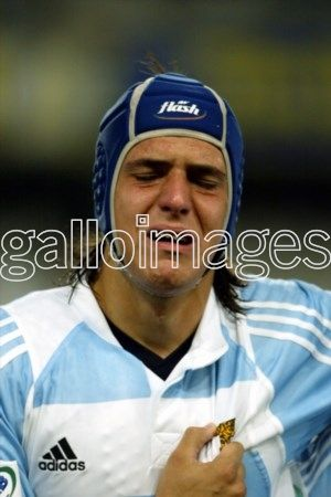 Love Argentina! DURBAN, SOUTH AFRICA: 1 April 2005, Leandro Galeone crying while singing the anthem during the IRB U19 World Championship match between South Africa and Argentina at Kings Park in Durban, South Africa Photo Credit - Gallo Images