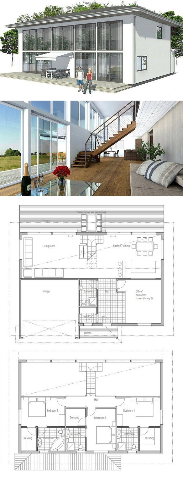 Modern Contemporary House With Big Windows And Abundance Of Natural Light Floor Plans From