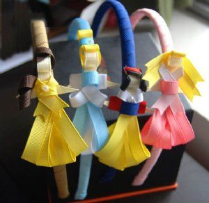 Diy disney princess ribbon headband for the girlies I could see @Melissa