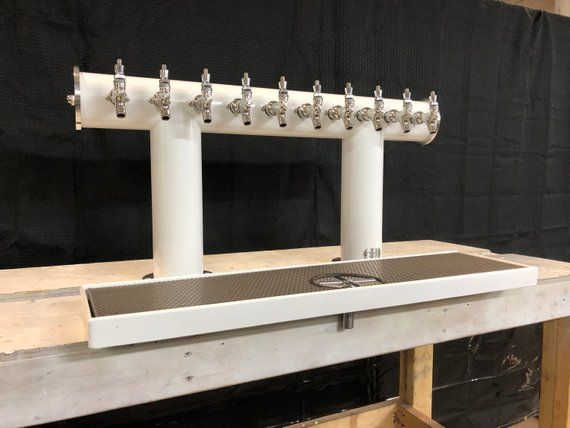Www Tappedbeer Com We Created Custom 10 Tap Wall Mounted Draft System And Custom Drip Trays For Volstead House Whis Beer Custom Cool Bars Bar Design Restaurant