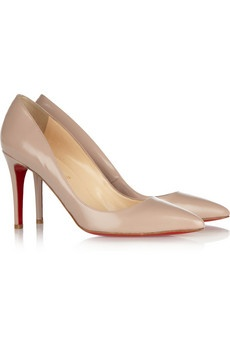 Christian Louboutin classics: Nude Pumps, 85 Pumps, Happy Birthday, Christian Louboutin Nud, Classic Nude, Leather Pumps, Nude Christian, Christian Louboutin Pigall, Glossed Leath Pumps