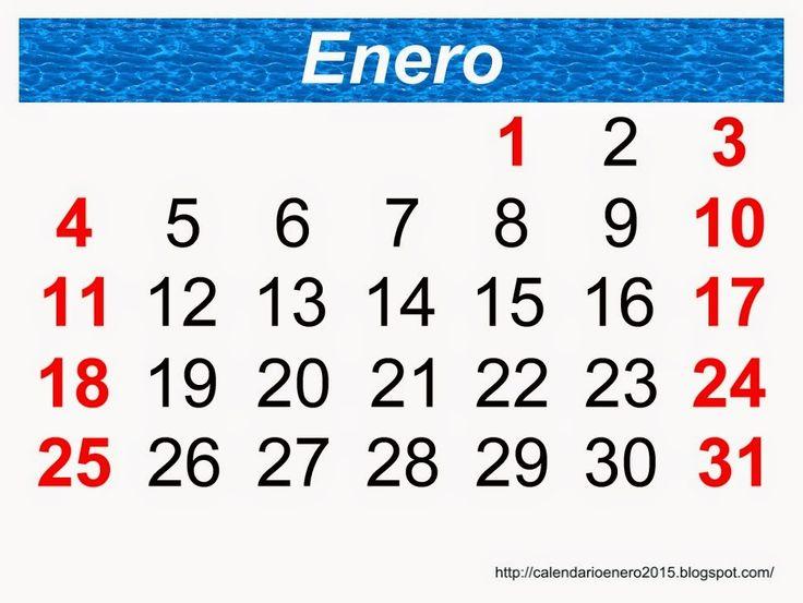 Calendarios para imprimir Enero 2015 - Calendario Para Imprimir Enero 2015, Enero 2015 Calendario Gratis