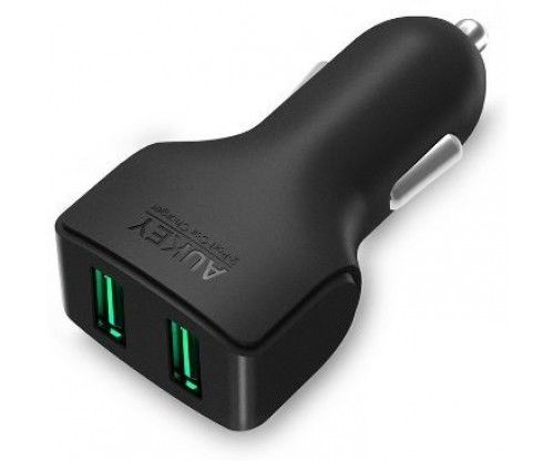 Autós szivargyújtóra csatlakoztatható gyors telefon, tablet töltő, dupla USB aljzattal, autós ajándék ötlet