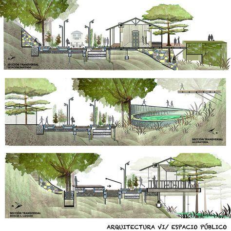 Taller 6.Espacio Público, via Flickr. - Architectural render elevation