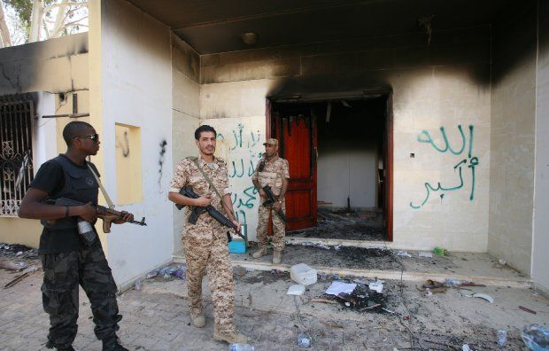 """State Department officials called the Sept. 11, 2012, terrorist attack at the U.S. Mission in Benghazi, Libya, a violent demonstration even though they had known for many hours that it was a coordinated military-style assault, newly obtained documents show. """"Violent demonstrations took place at the U.S. Embassy in Cairo, Egypt, and at the U.S. Special Mission Compound in Benghazi, Libya, resulting in damages in both locations and casualties in Benghazi,"""" the State Department said in a Sept…"""