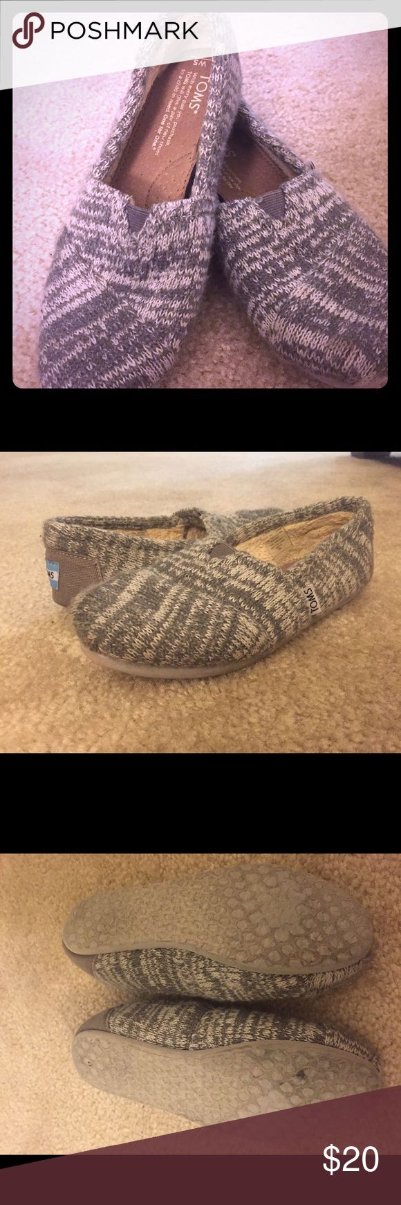 Toms Fur Lined Classic Wool Slip-On- Size 5 Gently used and in great condition! I am generally a 5 in TOMS, but these were a tad too small. Some scuffing on the bottom of the shoes and matting in the fur by the heal, but other than that look and smell like new! Never worn without half socks! TOMS Shoes Sneakers