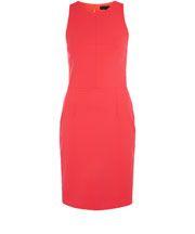 Coral Split Detail Bodycon Dress