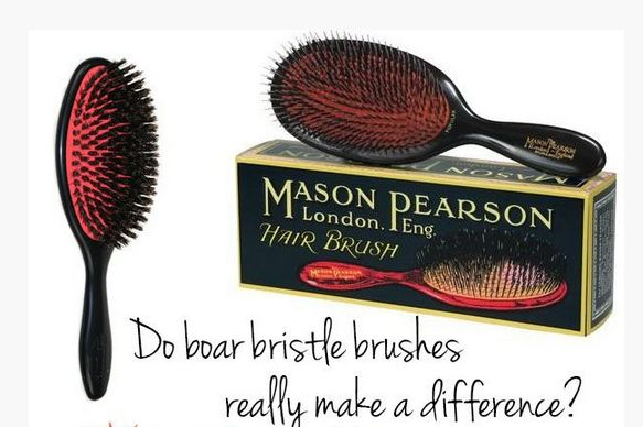 Instead of applying anti-frizz or shine treatment, use a boar bristle brush as you're styling and/or blow drying. | 26 Lazy Girl Hairstyling Hacks