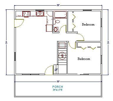 house plans 24x32 house plans