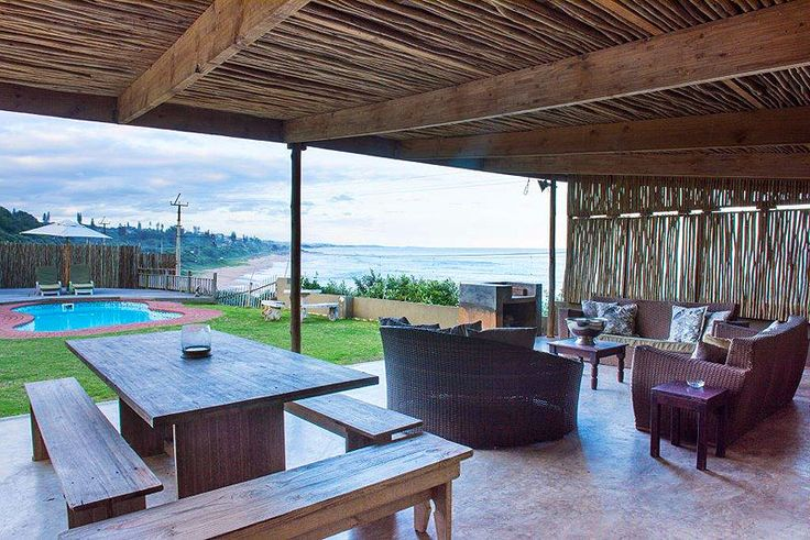 """House On The Beach Self catering holiday home in Widenham, South Coast, KZN  Getaway Magazine voted House on the Beach as one of the """"top ten affordable and cool"""" beach houses in South Africa, which sits high enough on the point for one to escape the moist sea air and enjoy the vista that this exceptionally located property has to offer."""