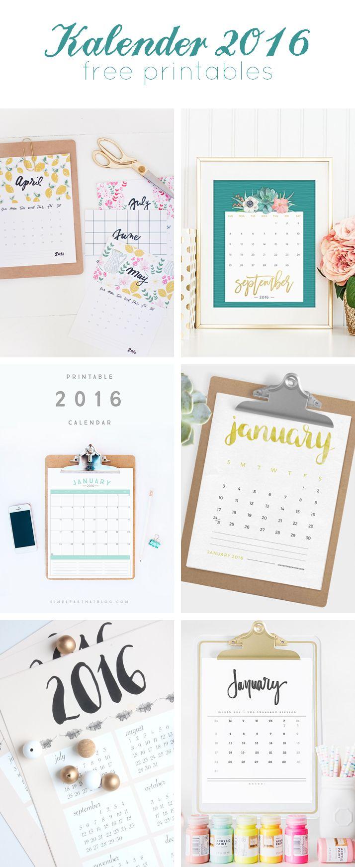 Einfach ausdrucken und aufhängen, hier sind die schönsten Kalender für 2016.