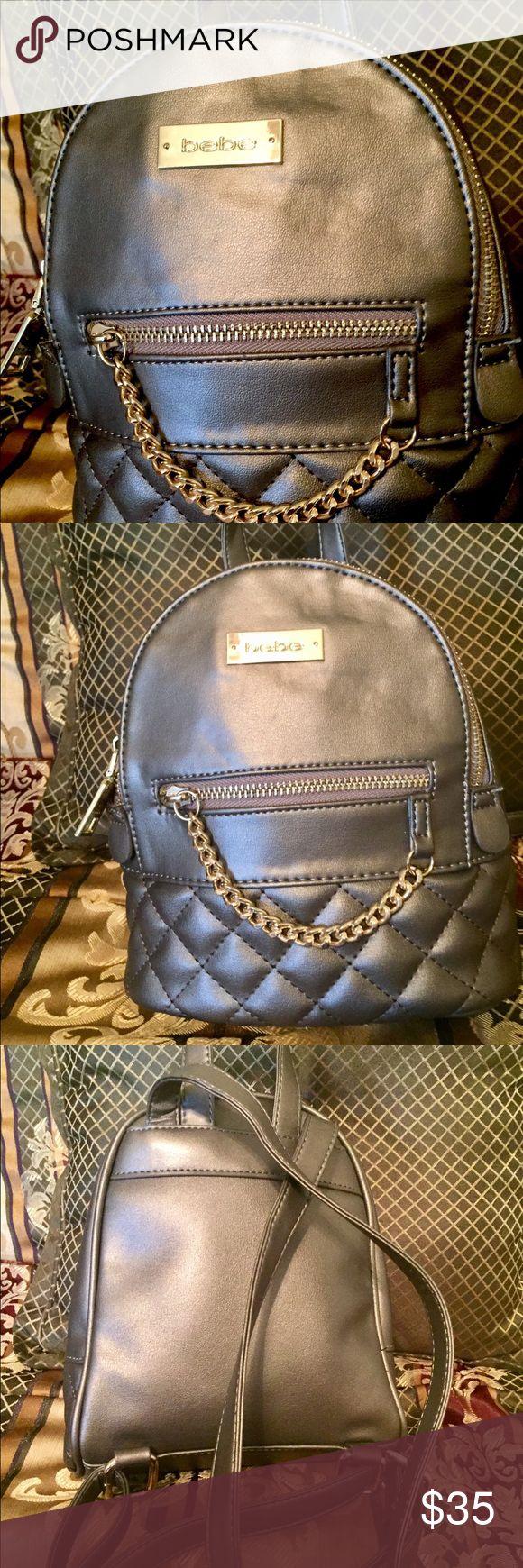 Bebe Mini Backpack Authentic Bebe olive green leather mini backpack. Brand New bebe Bags Backpacks