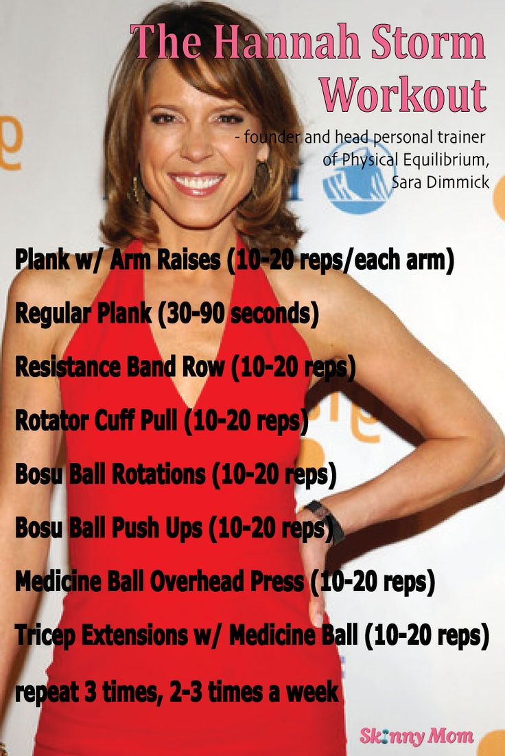 The HANNAH STORM workout! Check out the article to find an AMAZING upper body workout by Hannah Storm's trainer, Sara Dimmick! #SkinnyMom