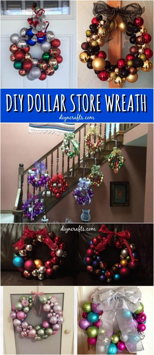 How to Create This Stunning Wreath Easily from Dollar Store Supplies! Probably the most frugal Christmas decorating project!