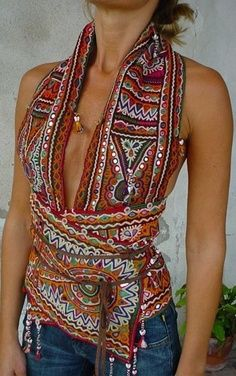 Bohemian Fashion Inspiration.pretty but I would wear a tank under it it's too low for me