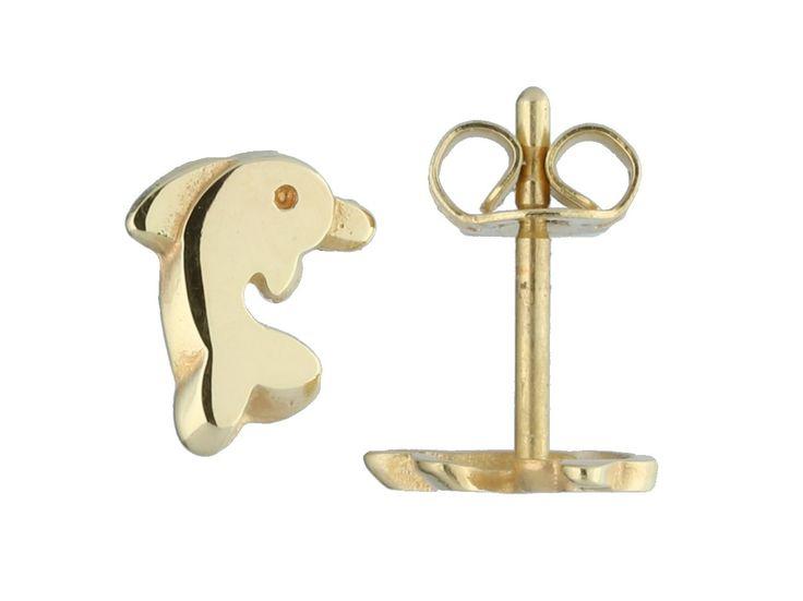 Glow Gouden Kinder oorbellen - Dolfijn 206.0480.00. Prachtige oorknoppen voor een meisje. Deze kinderoorbellen zijn uitgevoerd als 'Dolfijnen'. De oorbellen zijn vervaardigd uit het allerbeste 14-karaats gekeurd geelgoud. https://www.timefortrends.nl/sieraden/gouden-sieraden/gold-collection/creolen.html?___SID=U