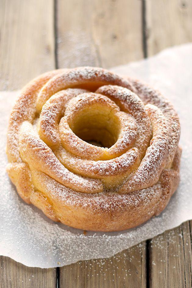 Torta alla panna montata soffice (senza burro e senza olio) - Ricetta Torta alla…