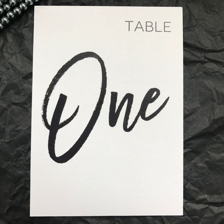 Kraft+White+Table+Number+Wedding+Birthday+Party+Table+Decor+Modern+Print