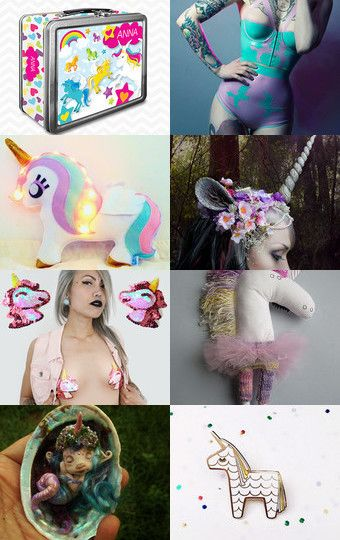 LOVE UNICORNS! by Katarzyna Bialik on Etsy--Pinned with TreasuryPin.com